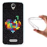 WoowCase Doogee X6 - X6 Pro Hülle, Handyhülle Silikon für [ Doogee X6 - X6 Pro ] Pixel- Multifarbiges Herz Handytasche Handy Cover Case Schutzhülle Flexible TPU - Transparent