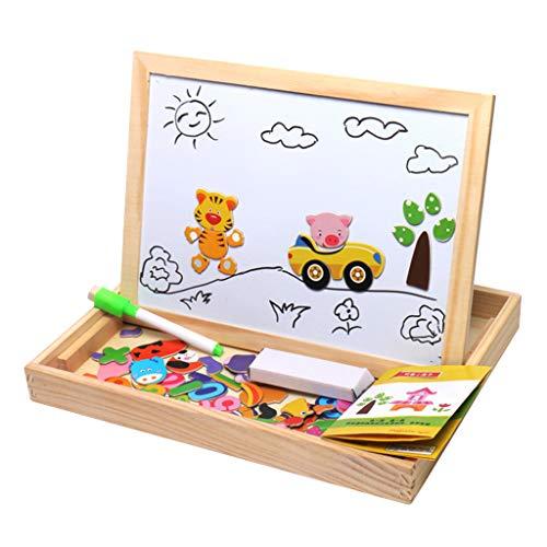 Happysdh Magnetisches Holzpuzzles Puzzles Magnettafel Kinder Magnetspiel Puzzle Kinderspielzeug Montessori Spielzeug ab 3 4 5 Jahre (Einfach Meer Kreatur Kostüme)