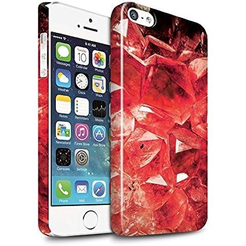 Carcasa/Funda Brillo Broche de Presión en para el Apple iPhone SE / serie: Piedra Zodíaco/Preciosa - Enero/Granate