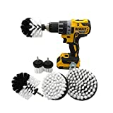 GUOJIAYI 2/3.5/4/5-inch electric drill cleaning brush drill, white brush head six-piece set