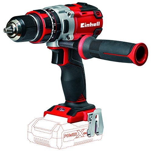 Einhell TE-CD 4513861 Trapano a Percussione, Power X-Change, Ioni di Litio, 18 V, Rosso