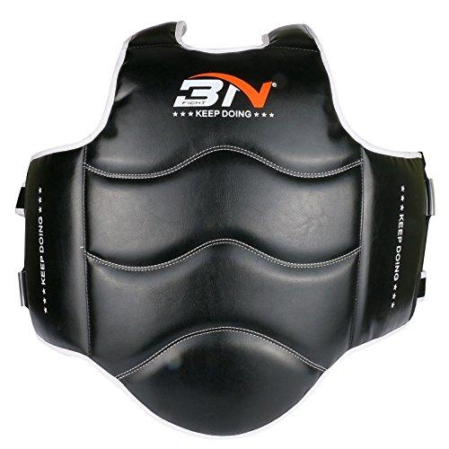 Kinder Boxing Belly Protector mit PU-Leder Hochdruck Schwamm für Boxen / Kickboxen / Muay Thai / Ausbildung Teenager Kick Schild Rib Guard Body Protector Bauchpolster -