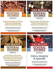 IAS Mains General Studies Paper 1,2,3,4 Combo (Set of 4 Books)
