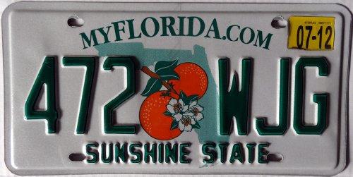 USA Nummernschild FLORIDA com °° US Kennzeichen °° Motiv ORANGEN / Blechschild Autoschild