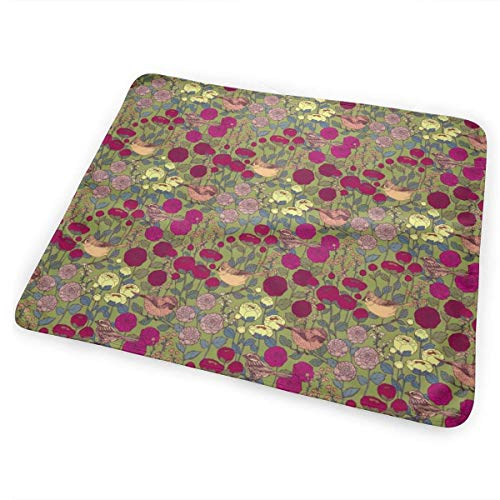 Velvet Garden (Kotdeqay Winter Garden Velvet Small Scale Diaper Changing Pads for Baby Toddler Children and Adults 31.5 X 25.5 inchfor Baby Toddler Children and Adults 31.5 X 25.5 inch)