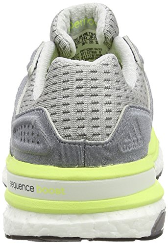 adidas Supernova Sequence Boost 8, Basses Femme gris (Clear Grey S12/Ftwr White/Frozen Yellow F15)
