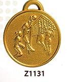 SPORTIVA 10 MEDAGLIE PREMIAZIONE PALLAVOLO 3 - RIFINITA MM 32 in Lega di ZAMA con NASTRINO Tricolore - Made in Italy