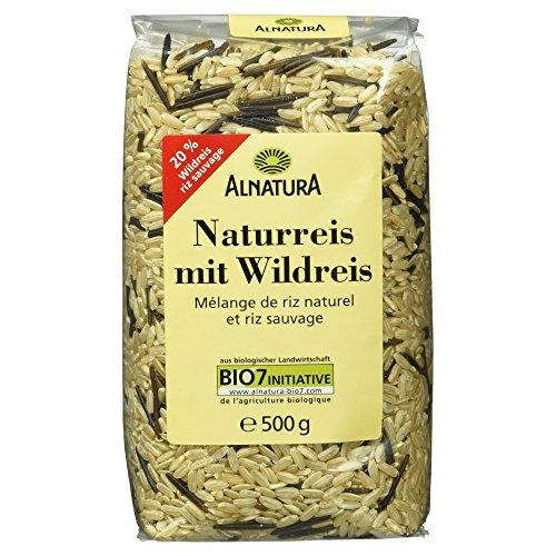 Alnatura Bio Naturreis mit Wildreis, 4er Pack (4 x 500 g) (Bio-wildreis)