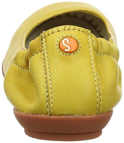 Softinos Ladies Ona380sof Lavato Chiuso Ballerine Giallo (giallo)