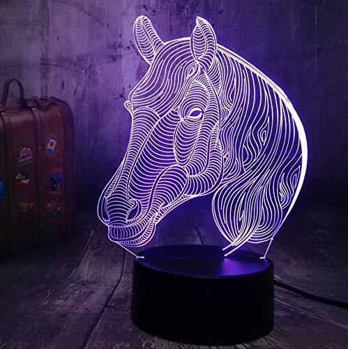 Guo Pferd 3D Nachtlicht - Tiermodell Kreatives Nachtlicht - Kreatives Geschenk - Acrylmaterial - 3D Tischlampe - Beste Wahl Für Freunde - Mehrere Farben Können Ihre Schönheit Aufhellen -