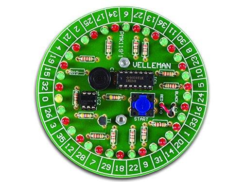 VS-ELECTRONIC - 840231 Velleman Mini-Kit, elektronisches Roulette Bausatz MK119