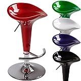 Miadomodo Sgabello da bar cucina girevole altezza regolabile ca. 62 - 82 cm colore verde set da 1
