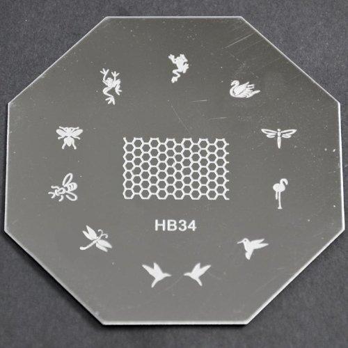 Nail Art emboutissage des tôles - HB34 CODE : HB34-plaque