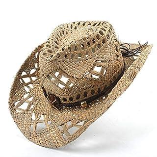 Redyiger Warme Mützen für Frauen, AZV 100% Natürliche Jazz Stroh Cowboyhut Frauen Männer Handarbeit Weben Cowboy Hüte für Lady Dad