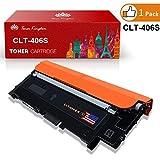 Toner Kingdom 1 Pack kompatibel Tonerpatronen für Samsung CLT-406S CLP-360 CLP-365 CLP-365W CLP-360N CLP-365W CLX-3300 CLX-3305 CLX-3305FN CLX-3305FW CLX-3305N CLX-3305W Xpress C410W SL-C460FW Drucker