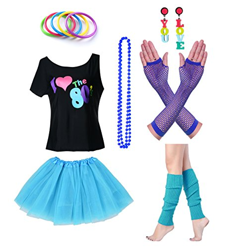 amen I Love The 80er Jahre T-Shirt 80er Jahre Outfit Zubehör (Top Girl Kostüme)