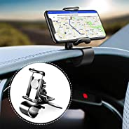Car Phone Holder 360-Degree Rotation Cell Phone Holder Suitable for 4 to 6.5 inch Smartphones,Rotating Dashboa