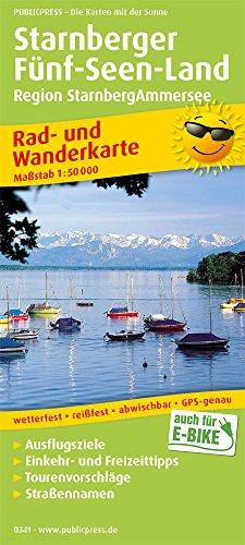 Starnberger Fünf-Seen-Land, Region StarnbergAmmersee: Rad- und Wanderkarte mit Ausflugszielen, Einkehr- & Freizeittipps, wetterfest, reissfest, ... 1:50000 (Rad- und Wanderkarte / RuWK)