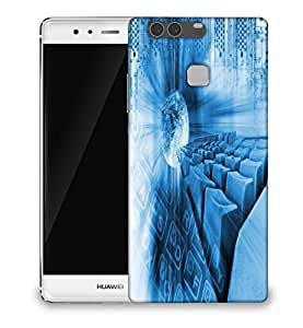 Snoogg abstract internet background Designer Protective Back Case Cover For Huawei P9