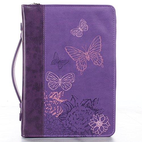 Luxleather Purple Butterflies Lg