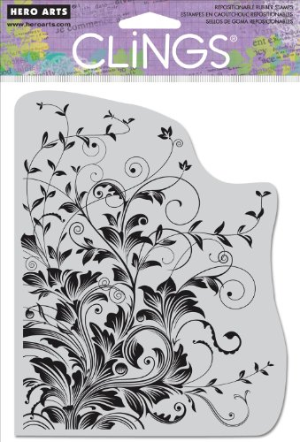 hero-arts-cling-stamps-leafy-vines