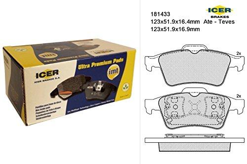 Icer Brakes 181433 - Kit Pastiglie Freno, Freno A Disco