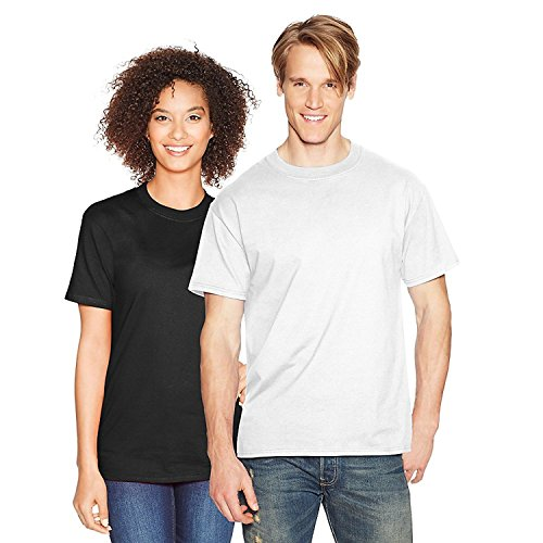 Hanes Beefy-T Adult Short-Sleeve T-Shirt_White_2XL (Oxford Hanes White)