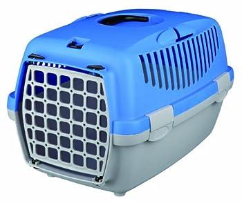 Trixie Boîte de Transport Capri 1 Gris Clair/Bleu 32 × 31 × 48 cm pour Chat
