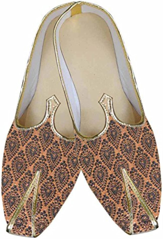 INMONARCH Hombres fabulosos Zapatos de Diseñador de Cobre MJ0051