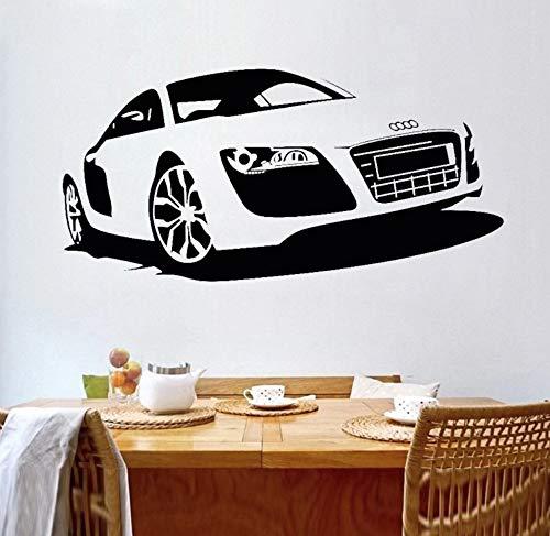utomotive Auto Wandaufkleber Dekorative Vinyl Wandkunst Für Jungen Rennwagen Design Wand Poster Auto Auto Wandbild 118x57 cm ()