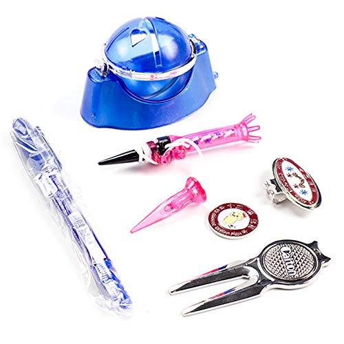 Explopur Golfzubehör-Kit - Golf Zubehör Set Golf Werkzeug Set Golf Line Marker Golf Divot Reparatur Werkzeug Golf Tees Golf Magnetic Hat Clip -