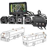 """HSRpro RFK-97 - Telecamera per retromarcia 3D, 360°, per Camion, Autobus, furgoni e roulotte, con Monitor a Colori da 7"""", Tecnologia di sorveglianza 3D"""