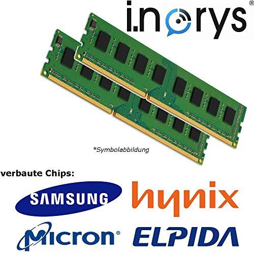 i.norys - 2GB (2X 1GB) DDR 400MHz C3 (PC 3200) DIMM 184pin Desktop Arbeitsspeicher RAM Memory -