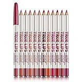 12 Verschiedene Farben Lip Liner Set Wasserfester Lippenstift Lip Liner Pencil Langlebiger Lipliner Pencil Set
