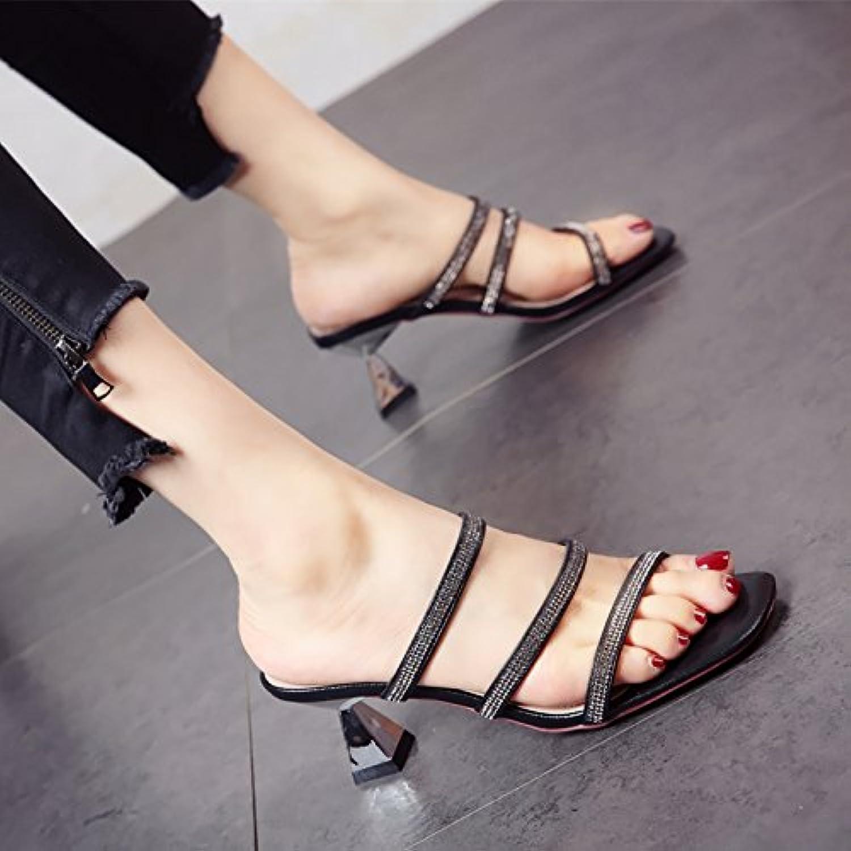 YMFIE, Pantofole estive da Donna con Punta a a a Diamante, comode e Antiscivolo, Nero, 37 EU | Sulla Vendita  | Maschio/Ragazze Scarpa  63383e