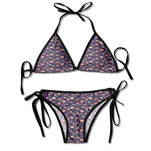 Women's Bathing Bikini Set,Artistic Design for Children Sexy Bikini 2 Pieces -