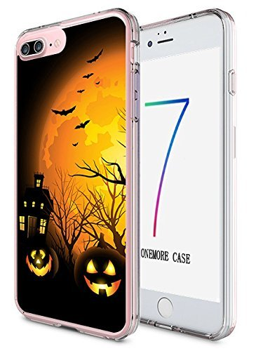 iPhone 8 Plus, iPhone 7 Plus Hard Cover 14 cm Ultra Slim Dünn Happy Halloween, Style-14
