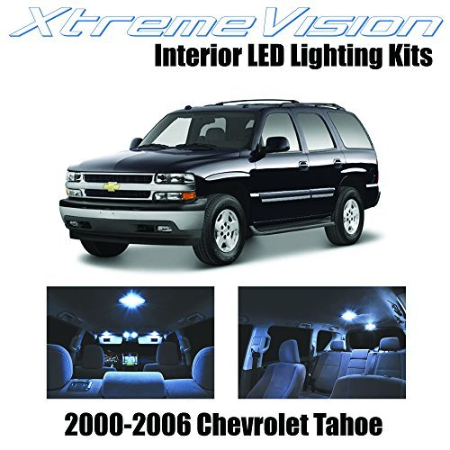 XtremeVision Chevy Tahoe 2000-2006 (18 Pieces) Cool White Premium Interior LED Kit Package + Installation Tool by