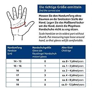 Playshoes Kinder Schnee-Handschuhe mit Thinsulate-Technik und Schneefang im Schaft Unisex Fingerhandschuhe mit Klettverschluss