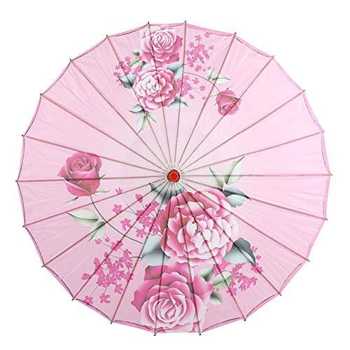 Tanz Unternehmens Kostüm - WSJTT 32 zoll Chinesischen Regenschirm Sonnenschirm Chinesischen Stil Dekorative Handwerk Geöltem Papier Regenschirm Sonnenschirm Wasserdicht mit Mustern for Hochzeiten Fotografie Kostüme Cosplay Deko