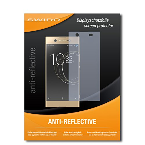 SWIDO® Schutzfolie für Sony Xperia XA1 Ultra Dual [2 Stück] Anti-Reflex MATT Entspiegelnd, Hoher Härtegrad, Schutz vor Kratzer/Folie, Bildschirmschutz, Bildschirmschutzfolie, Panzerglas-Folie
