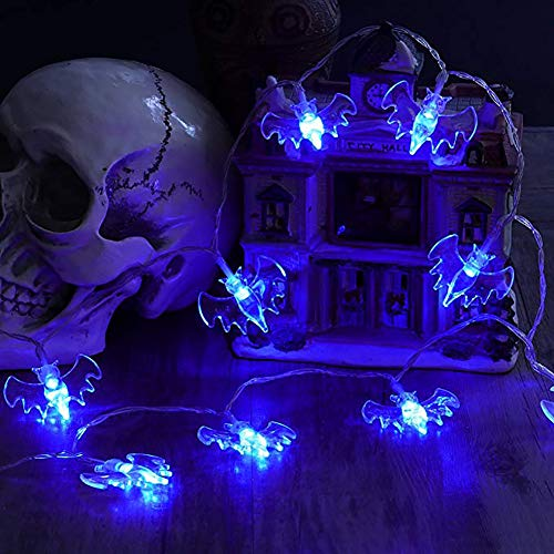 JINLE halloween - schläger string lichter, batteriebetriebene 16.5ft 40 leds wasserdicht dekoration lichter indoor/outdoor - halloween - party weihnachtsfeiertage hof dekorationen dekor, blaues ()