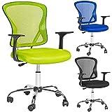 TecTake Silla de oficina giratoria sillón ejecutivo silla de escritorio - disponible en diferentes colores - (Verde   No. 401187)