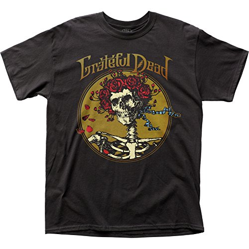 Grateful Dead Rock Band Music Group Skull with Roses Adult T-Shirt Tee