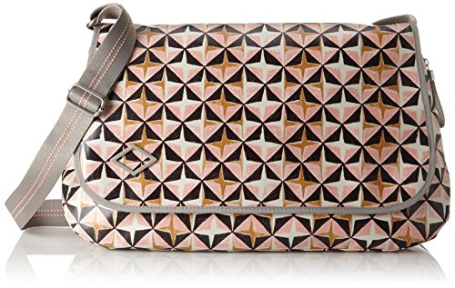 Oilily Damen Lori Geometrical Diaperbag Lhf Umhängetasche, Pink (Rose), 16x30x44 cm (Ostern-schuhe Kleinkinder Für)