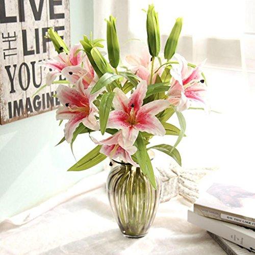 Longra Wohnaccessoires & Deko Kunstblumen Künstliche Heiße künstliche Calla-Lilien-Hochzeits-Brautstrauß-gefälschte Blumen DIY Haus Decorh