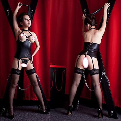 Fetisch Sklavengeschirr Erotische Unterwäsche, Königin Offene Brust Sexy BH Dessous, Paar BDSM Bondage Toys, Hochwertige Weiche PU