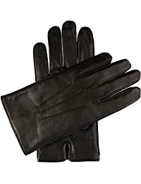 Dents Black Hastings Leather Acrylic Fleece Lined 5-1568 Mens Gloves Medium
