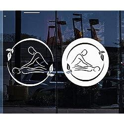 wandaufkleber kinderzimmer sterne Window Spa Massage Therapie Beauty Logo Entspannen Sie sich im Schönheitssalon