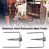 Aerries Forche per Barbecue - Multi Funzionale placcatura Grill forchetta, Grill Girarrosto Forchette per Carne Accessori Barbecue all'aperto